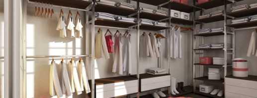 Какими бывают гардеробные комнаты, фото примеров