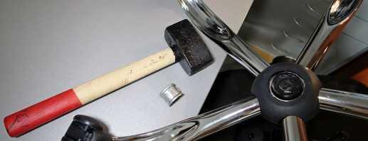 Как с офисного кресла снять крестовину, полезные рекомендации