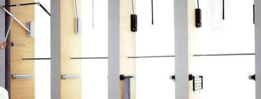Обзор пантографов в шкаф купе, правила выбора