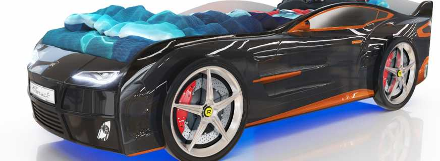 Особенности выбора кровати машины, обзор популярных моделей