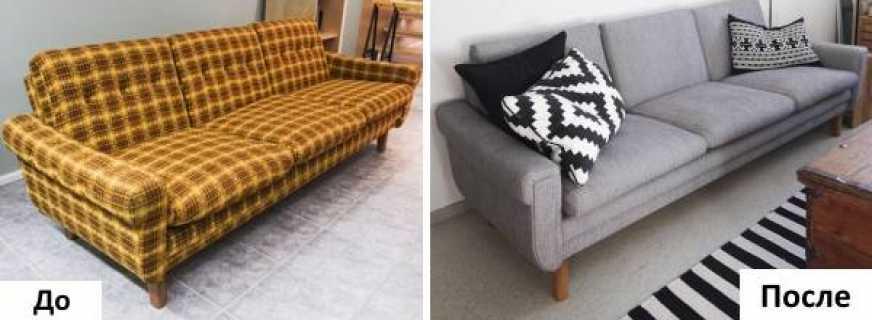 Особенности реставрации дивана своими руками, последовательность шагов