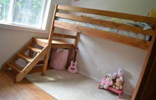 Почему популярны кровати чердаки выполненные из массива дерева, самые лучшие модели