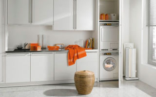 Какие бывают шкафы под стиральную машину, правила выбора