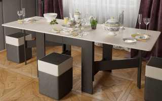 Размеры столов-книжек разных моделей, рекомендации по выбору