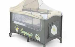 Преимущества кроватей манежей, обзор популярных моделей для сна и игр