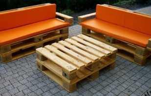 Варианты мебели из поддонов, фото готовых моделей