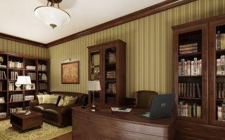 Варианты мебели в домашний кабинет, обустройство рабочего пространства
