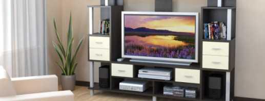 Виды мебели под телевизор, конструкции в гостиную