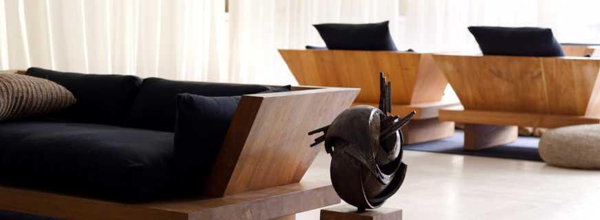 Разнообразие дизайнерской мебели из нестандартных материалов