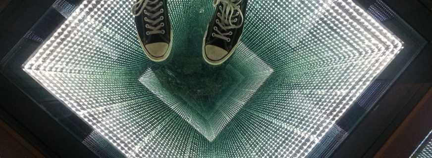 Алгоритм создания бесконечного зеркала, от выбора материалов до сборки