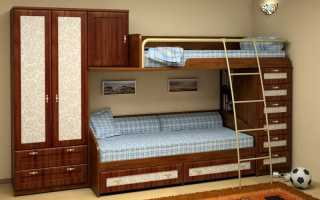 Характерные черты двухъярусных кроватей для подростков и их разновидности