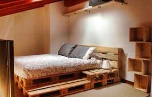 Варианты кроватей выполненных в стиле лофт, креативные дизайнерские идеи