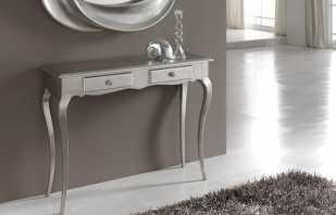 Разновидности мебельных консолей, назначение и применение в интерьере