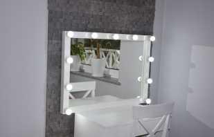 Виды зеркал с подсветкой для макияжа, советы по выбору и размещению