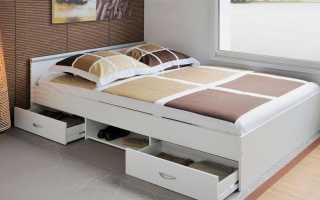 Существующие кровати двуспальные с ящиками для хранения, их функции и возможности