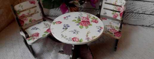Обновление старого стола с помощью техники декупаж, интересные идеи