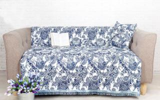 Как подобрать красивое и практичное покрывало для дивана