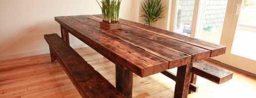 Мастер-класс по изготовлению деревянного стола своими руками