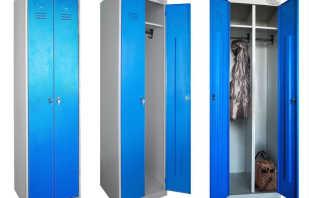 Какие бывают металлические шкафы для одежды, обзор моделей
