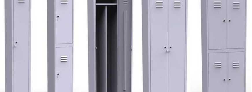 Обзор металлических шкафов в раздевалку, правила выбора