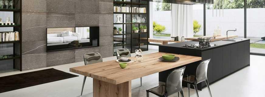 Функциональность кухонного острова с обеденным столом, типовые размеры