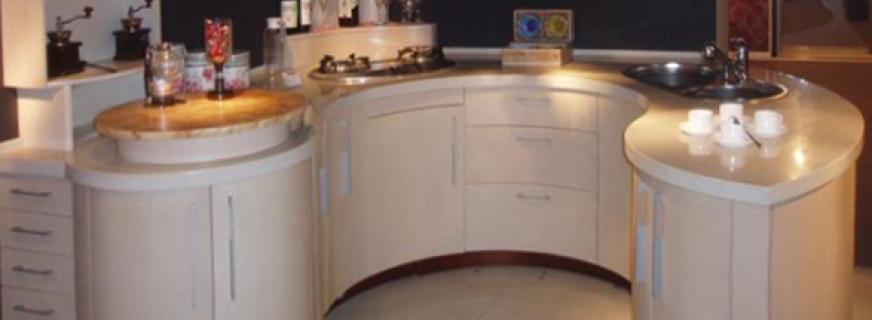 Какая бывает мебель для кухни, угловые конструкции