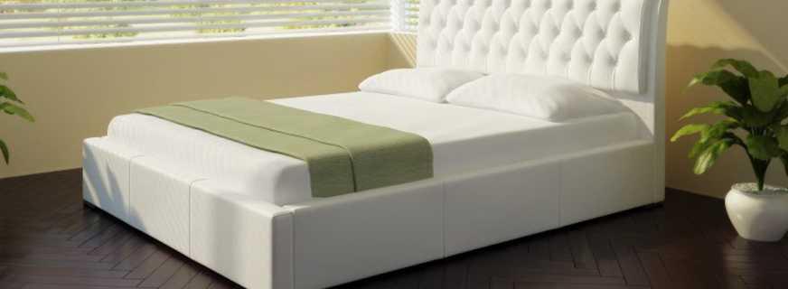 Особенности двуспальных кроватей с матрасом, их разновидности