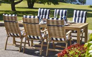 Особенности тиковой мебели, применение в оформлении дома и террасы