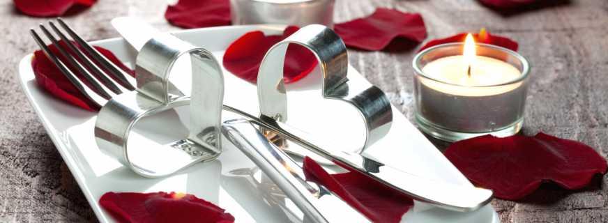 Идеи украшения стола на 14 февраля, особенности сервировки