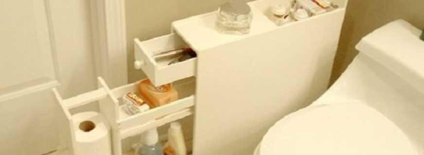 Какие бывают шкафы для туалета, обзор моделей
