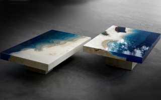 Технология изготовления стола из эпоксидной смолы, интересные идеи