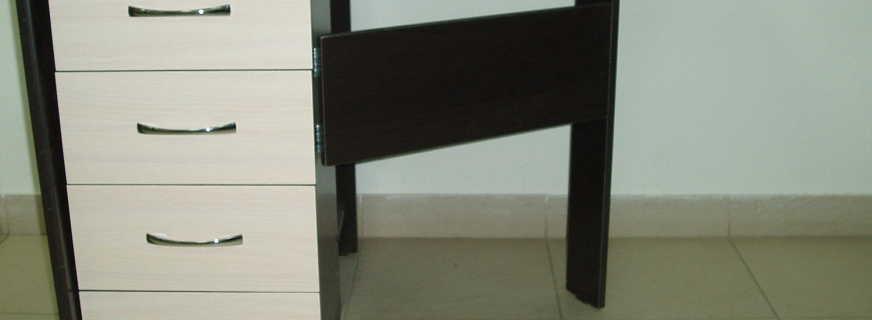 Советы по выбору раскладного стола тумбы с ящиками, готовые варианты