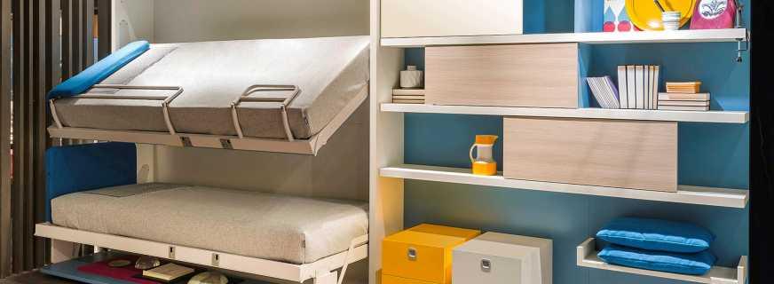 Современные двухъярусные кровати-трансформеры, виды конструкций
