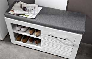 Варианты тумб под обувь с сиденьем для прихожей, их плюсы и минусы
