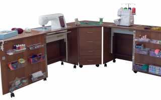 Функциональные характеристики стола для шитья, сборка своими руками