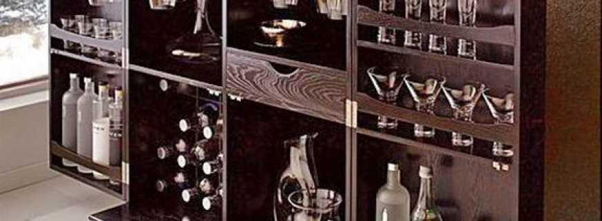 Назначение шкафа бара, как правильно выбрать