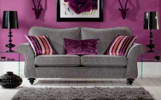 Использование серого дивана в интерьере, варианты комбинирования