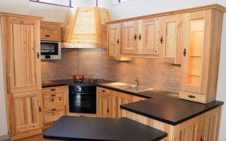 Кухня из мебельных щитов, как сделать своими руками