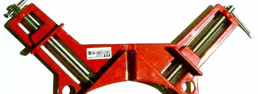 Назначение угловой струбцины для сборки мебели, особенности инструмента