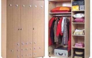 Какие бывают маленькие шкафы для одежды, и их особенности