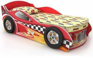 Оригинальная кровать для мальчика в виде машины, критерии выбора