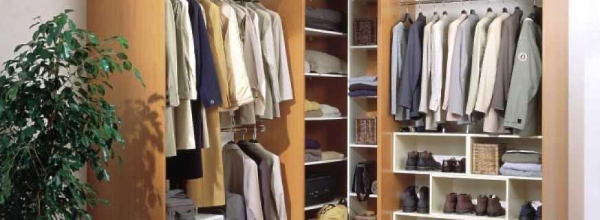 Виды угловых гардеробных в спальне, советы по размещению