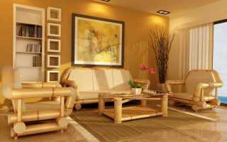 Особенности мебели из бамбука, обзор моделей