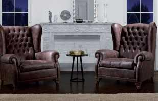 Английские каминные кресла в комбинации с различными стилями интерьера