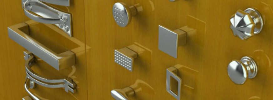 Особенности мебельных ручек для шкафов, обзор моделей