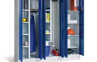 Варианты металлических шкафов для инвентаря, советы по выбору