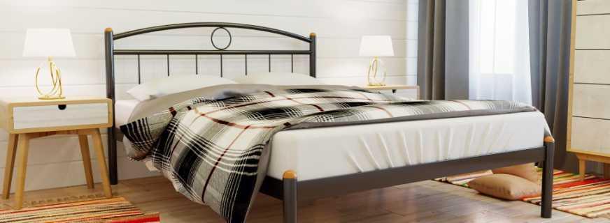 Особенности одноярусных металлических кроватей, сфера их применения
