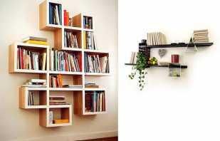 Особенности мебельных полок, обзор возможных вариантов
