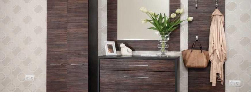 Какие встречаются комоды с зеркалом для прихожей, и их особенности