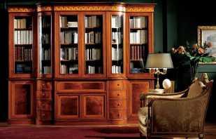 Особенности книжных шкафов из массива дерева, плюсы и минусы